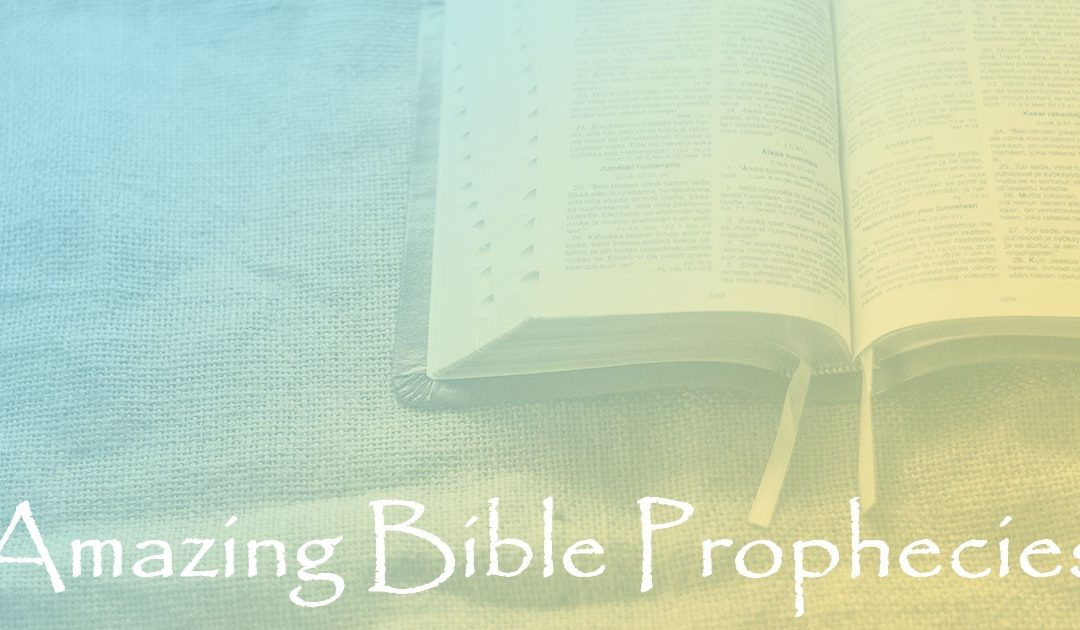 Amazing Bible Prophecies:  Part 95 – Prophecies of Christ's First Coming