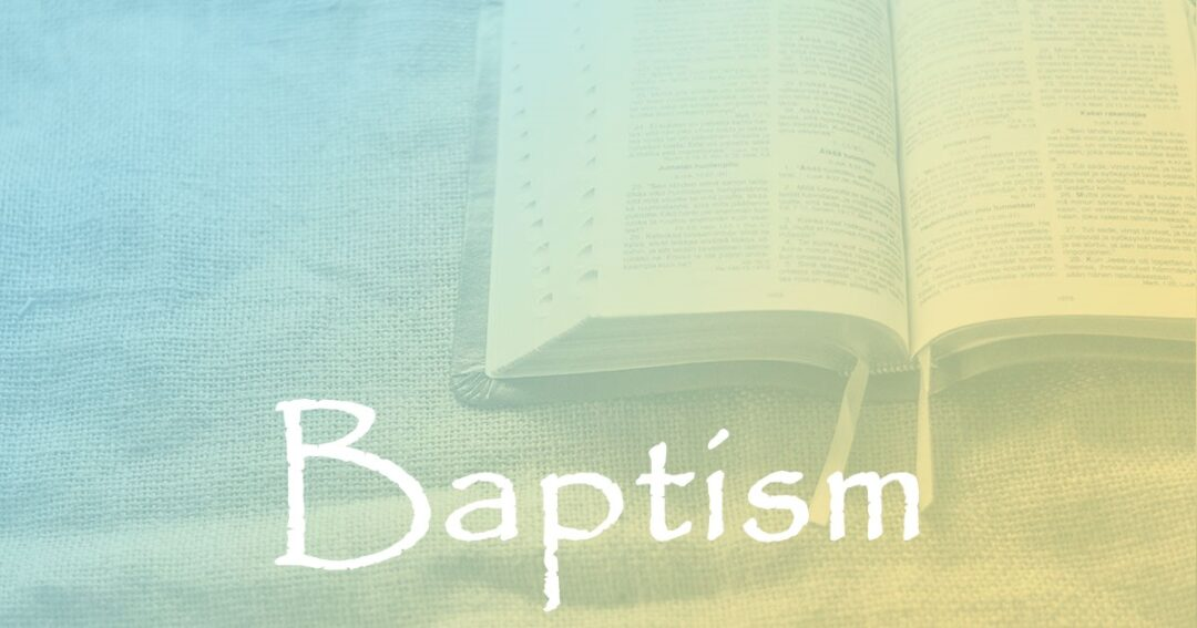 Baptism:  Part 3 – Baptized Unto Moses