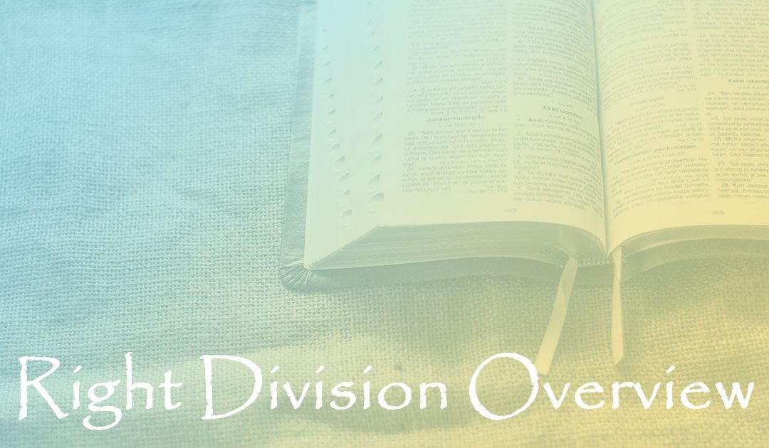 Right Division Overview:  Part 22 – God's Will